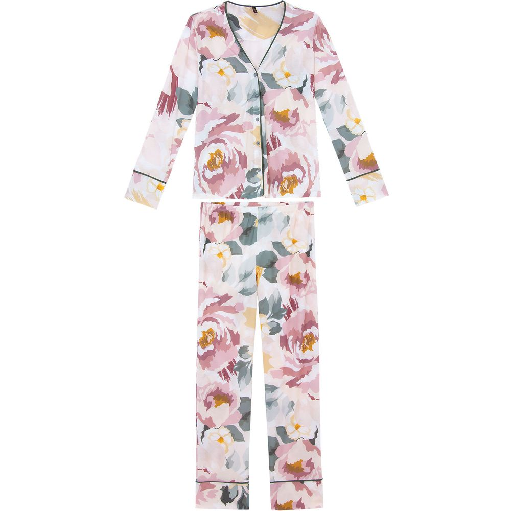Pijama-Feminino-Lua-Lua-Longo-Aberto-Floral