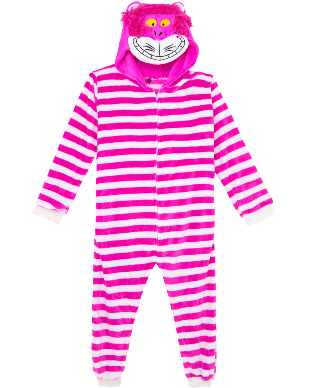 09bb11f3ae251f Pijama Fantasia Gato Alice Kigurumi Zona Criativa - Pijama Online