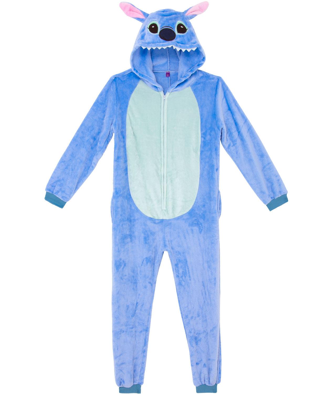 afb51091337fa0 Pijama Fantasia Stitch Kigurumi Zona Criativa - Pijama Online
