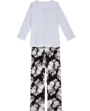 Pijama-Plus-Size-Feminino-Lua-Encantada-Algodao-Floral