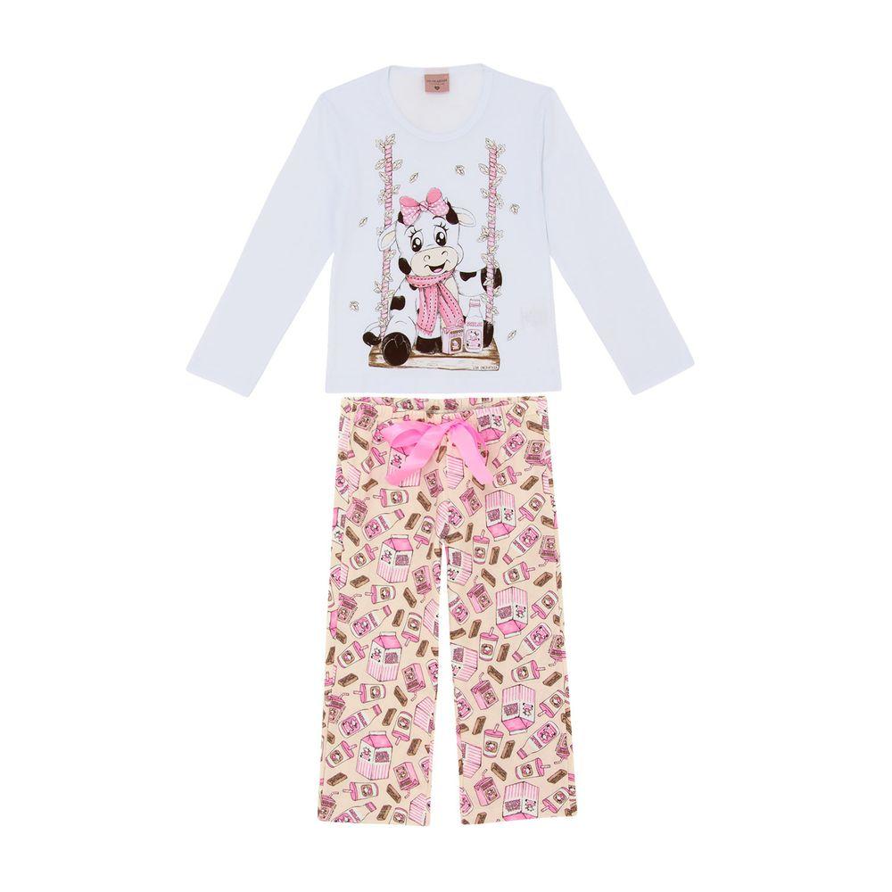 Pijama-Infantil-Feminino-Lua-Encantada-Vaquinha