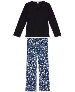 Pijama-Feminino-Lua-Encantada-Calca-Animal-Print