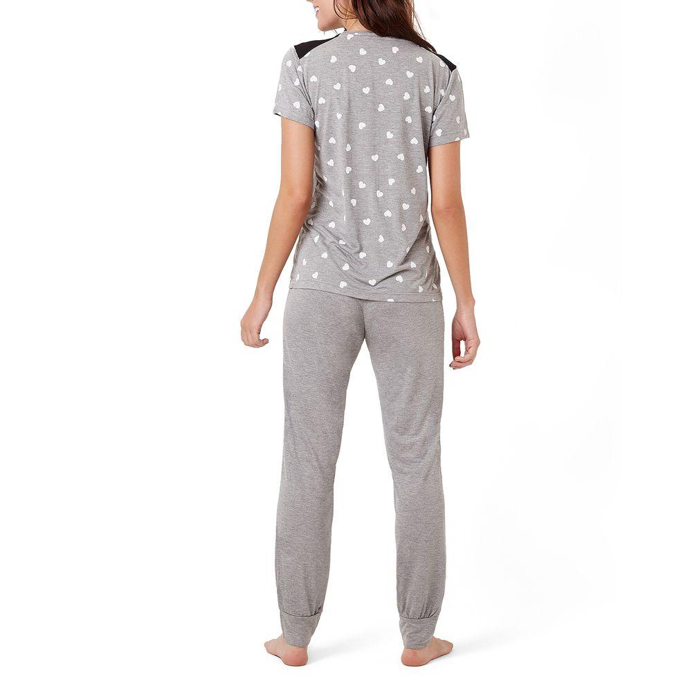 Pijama-Feminino-Joge-Viscolycra-Xoxo-Calca-Punho