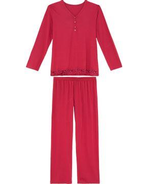 Pijama-Feminino-Recco-Longo-Viscolycra-Renda