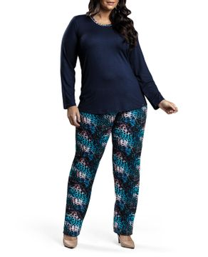 Pijama-Plus-Size-Feminino-Recco-Longo-Viscolycra-Onca