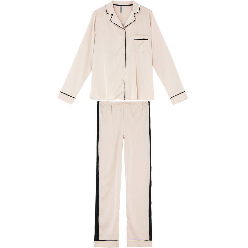 Pijama-Feminino-Lua-Lua-Aberto-Longo-Satine-Streetch
