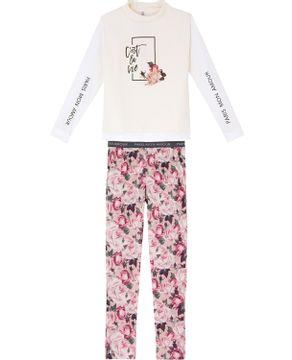 Pijama-Feminino-Lua-Lua-Matelasse-Calca-Floral