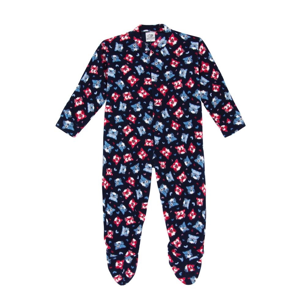 Macacao-Infantil-com-Pe-Papa-s-Wave-Soft-Corujas