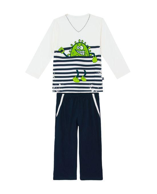 Pijama-Infantil-Masculino-Recco-Algodao-Monstro-Listras