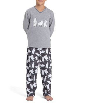 Pijama-Infantil-Masculino-Recco-Moletinho-Flanelado-Urso