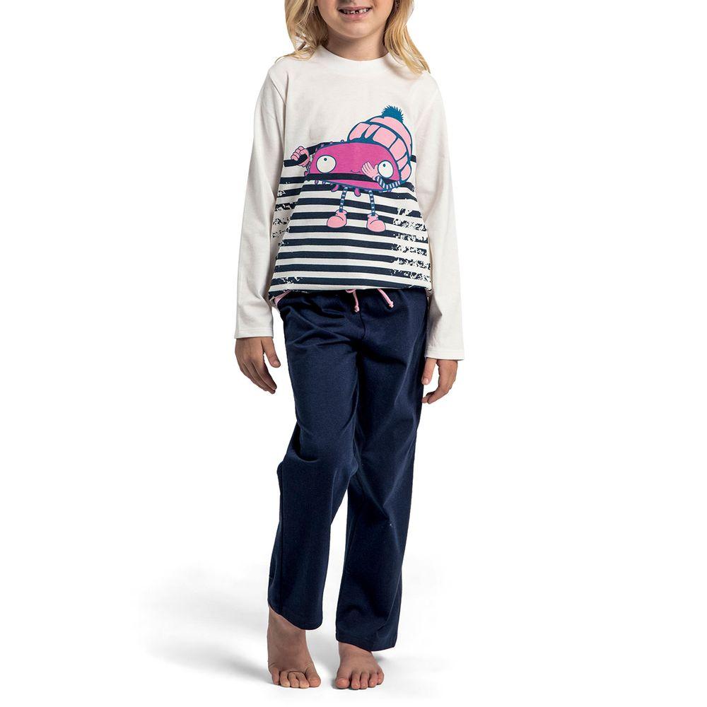 Pijama-Infantil-Feminino-Recco-Algodao-Monstro-Listras