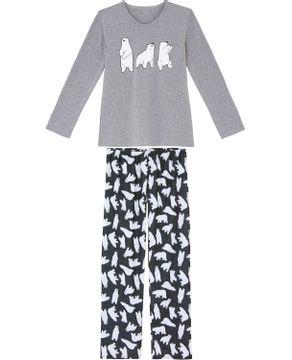 Pijama-Feminino-Recco-Moletinho-Flanelado-Urso-Polar
