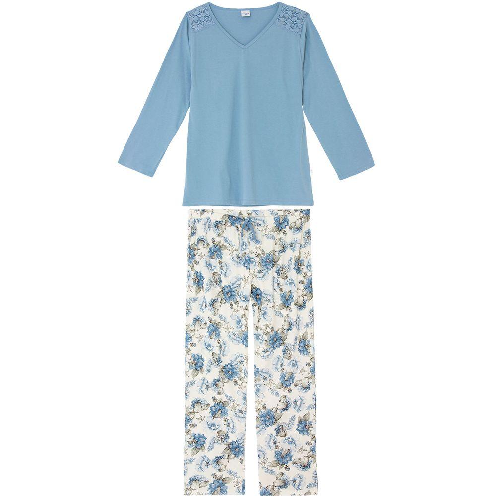 Pijama-Plus-Size-Feminino-Lua-Encantada-Renda-Floral