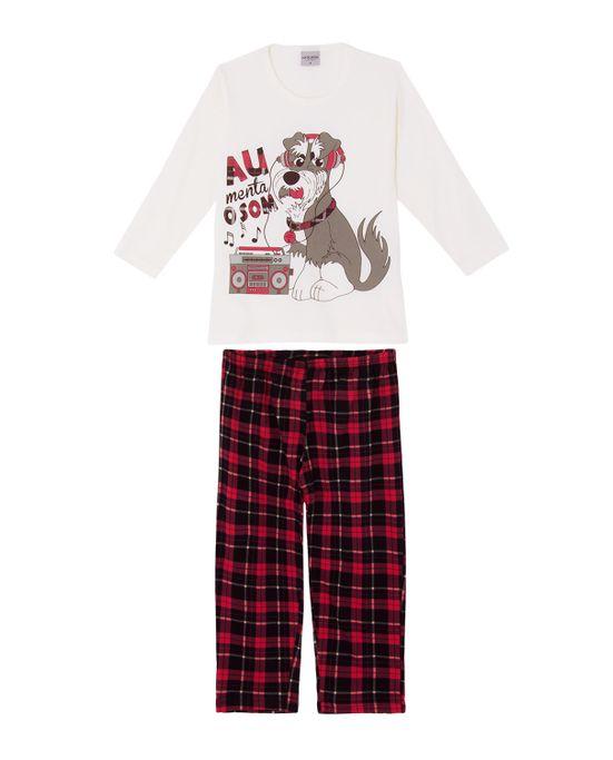 Pijama-Infantil-Masculino-Lua-Encantada-Cachorro-Xadrez
