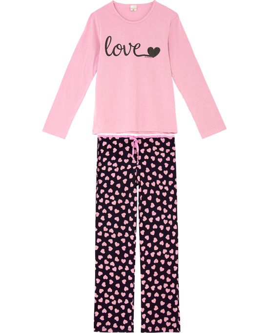 Pijama-Feminino-Lua-Encantada-Longo-Algodao-Love
