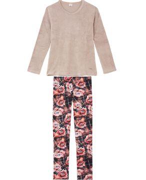 Pijama-Feminino-Lua-Encantada-Soft-Legging-Floral