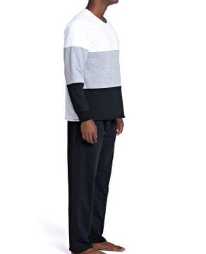 Pijama-Masculino-Recco-Moletinho-Flanelado-Recortes