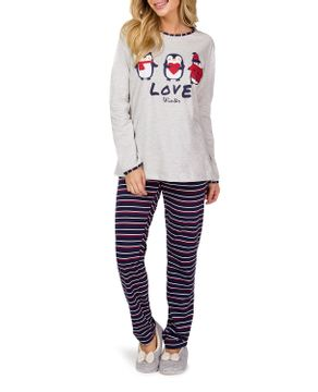 Pijama-Feminino-Lua-Cheia-Longo-Algodao-Pinguim
