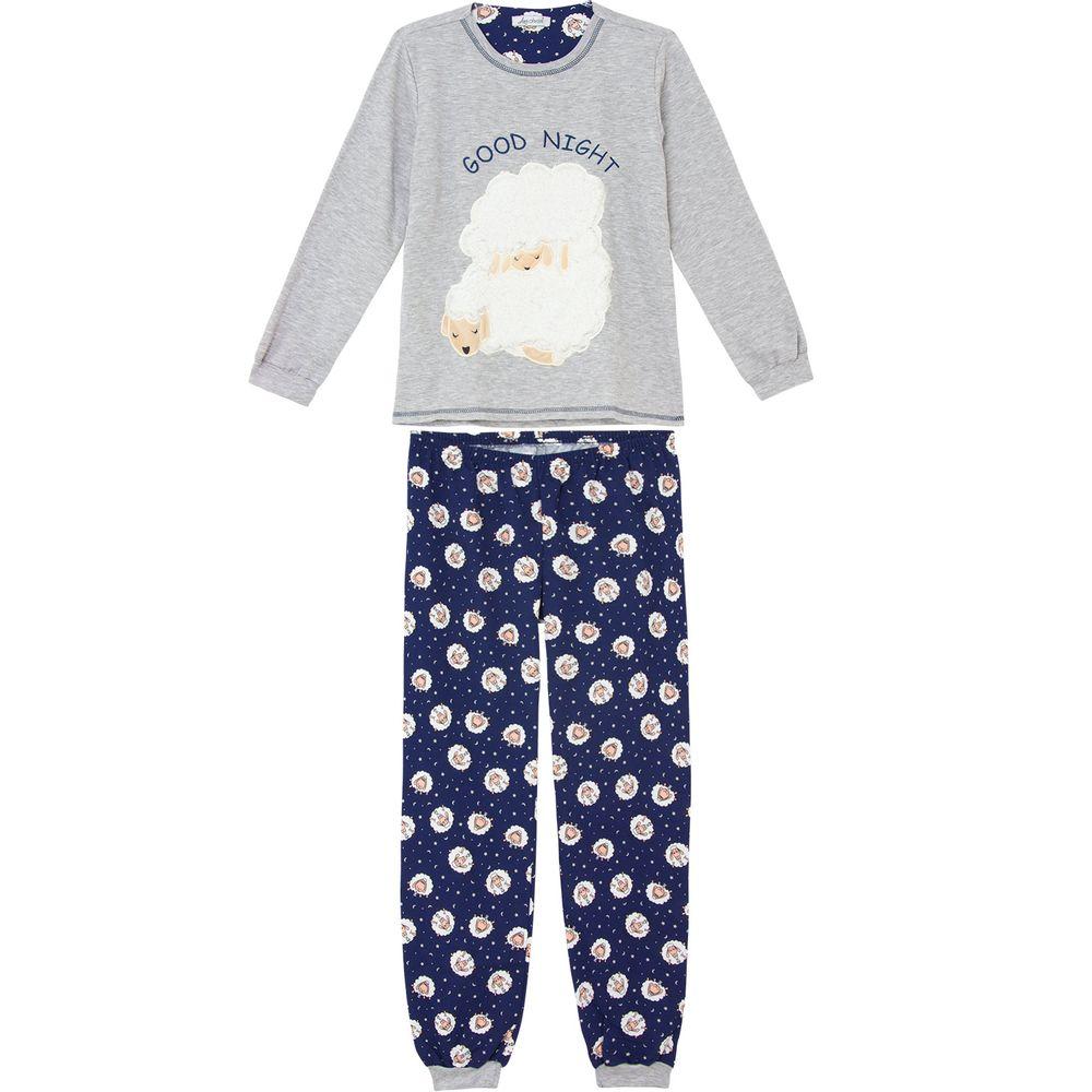 Pijama-Plus-Size-Feminino-Lua-Cheia-Moletinho-Ovelha