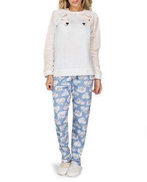 Pijama-Feminino-Lua-Cheia-Moletinho-Ursos-Peluciado