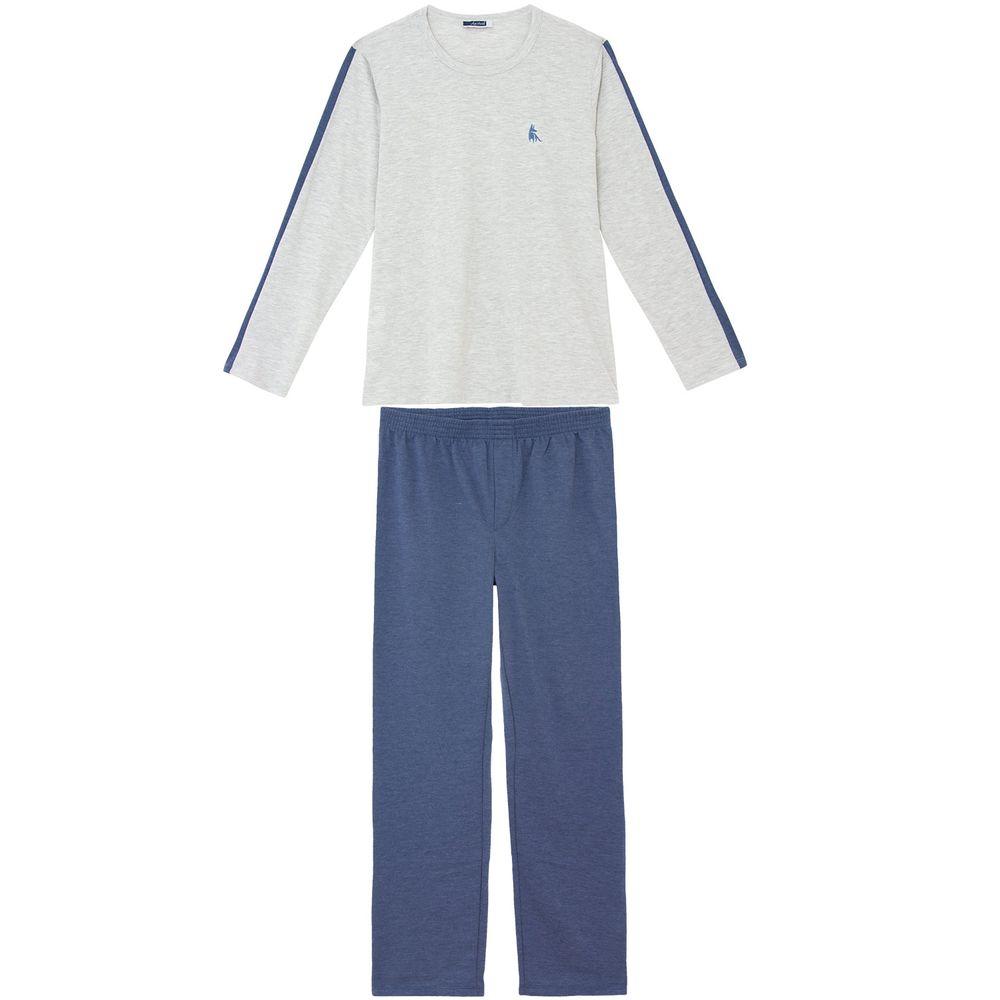 Pijama-Masculino-Lua-Cheia-Longo-Algodao-Mescla