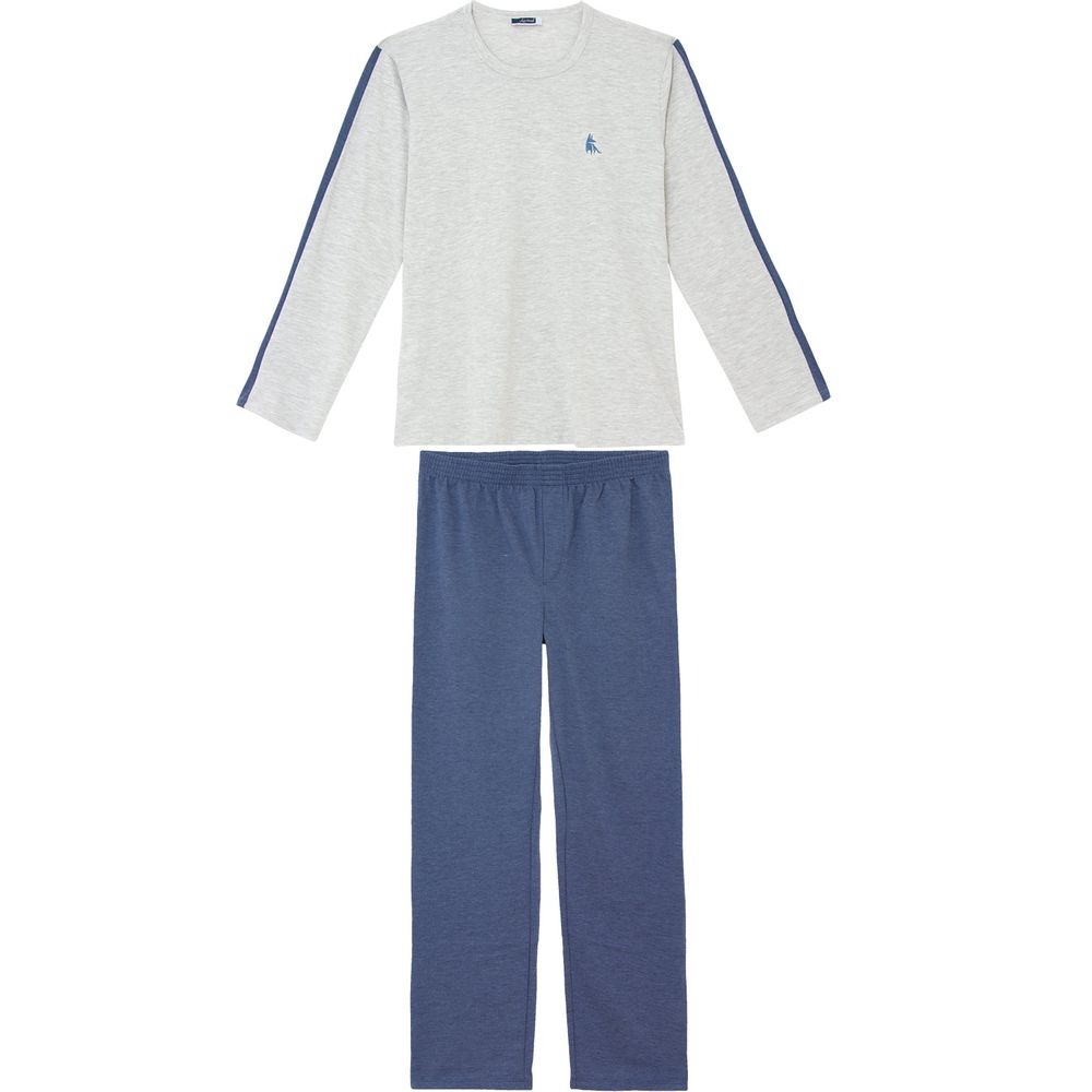Pijama-Plus-Size-Masculino-Lua-Cheia-Algodao-Mescla