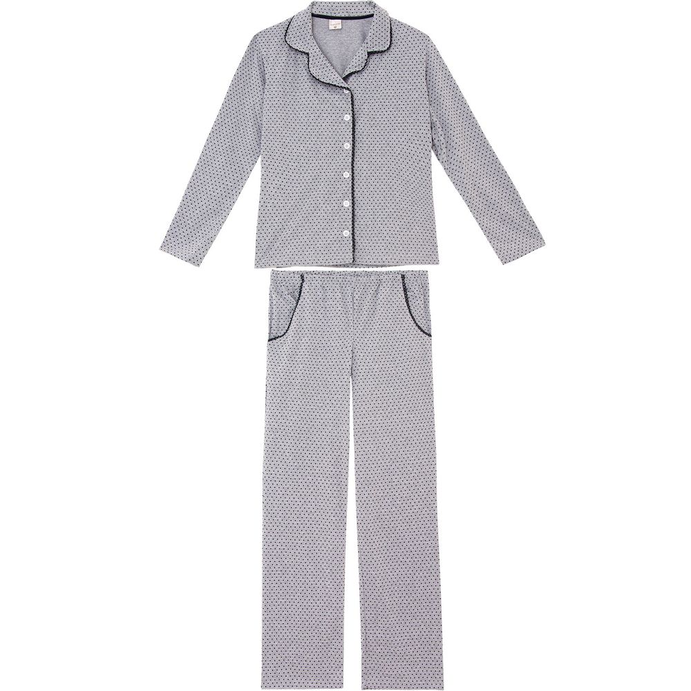 Pijama-Feminino-Lua-Encantada-Longo-Aberto-Poa