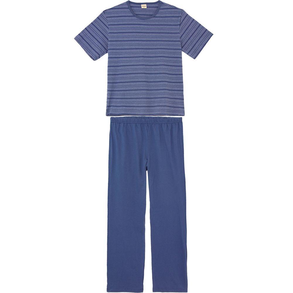 Pijama-Masculino-Lua-Encantada-Manga-Curta-Listras