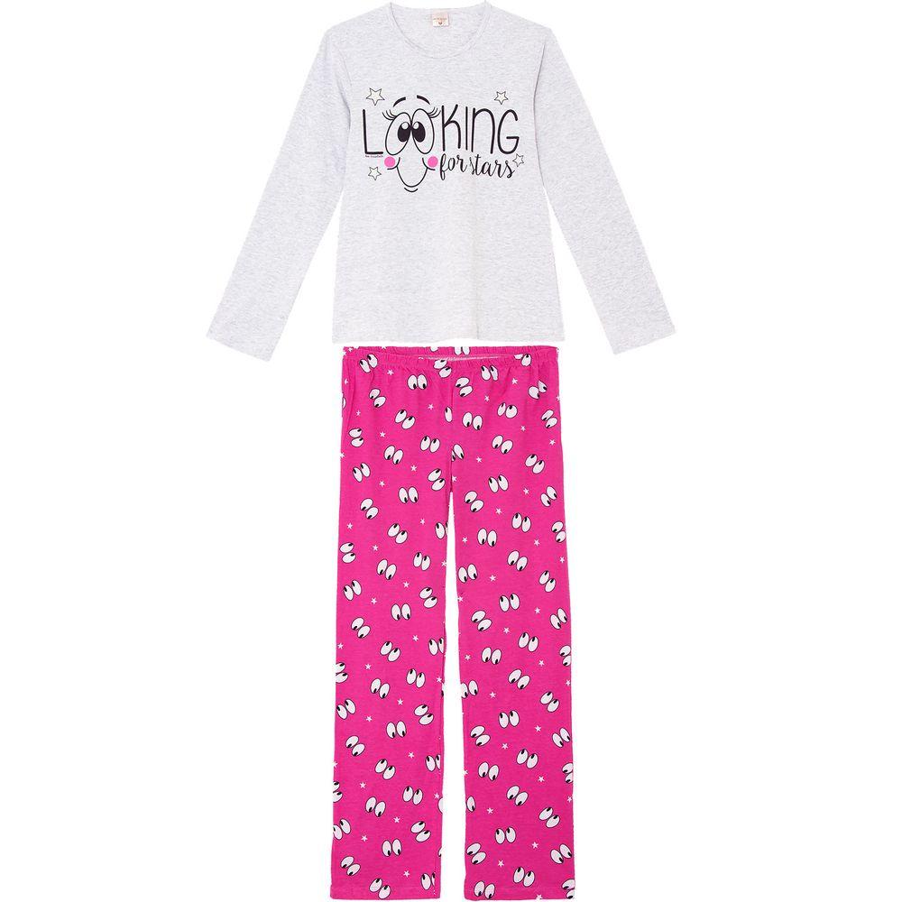 Pijama-Feminino-Lua-Encantada-Longo-Algodao-Look