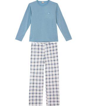 Pijama-Masculino-Lua-Encantada-Moletinho-Xadrez