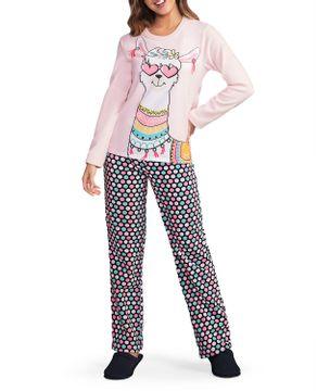 Pijama-Feminino-Lua-Encantada-Soft-Lhama-Poa