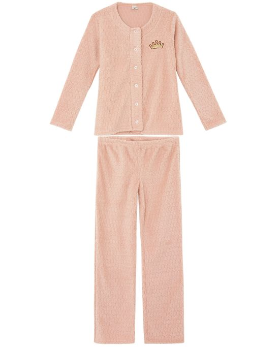 Pijama-Feminino-Lua-Encantada-Aberto-Peluciado-Coroa