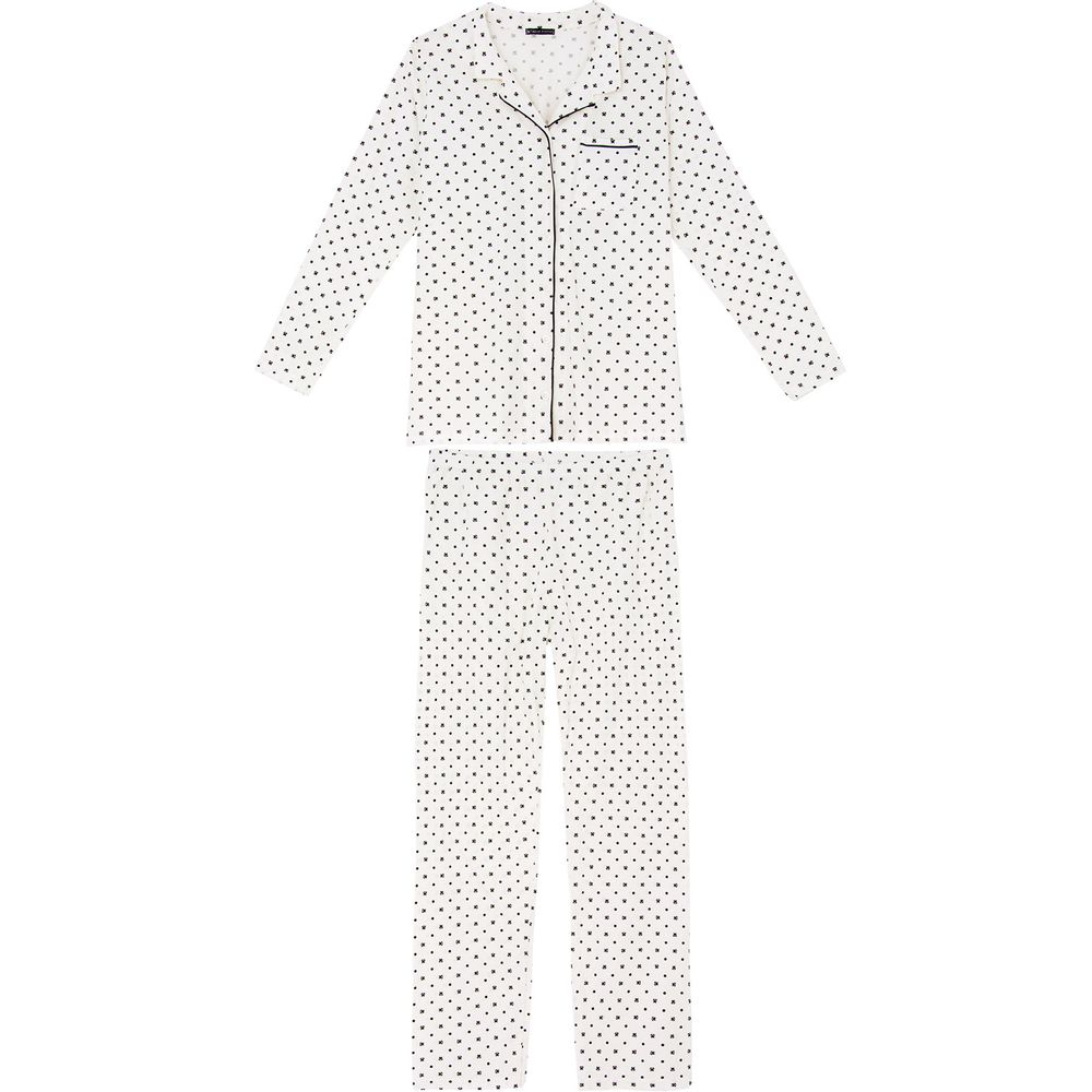 Pijama-Feminino-Toque-Intimo-Aberto-Algodao-Poa