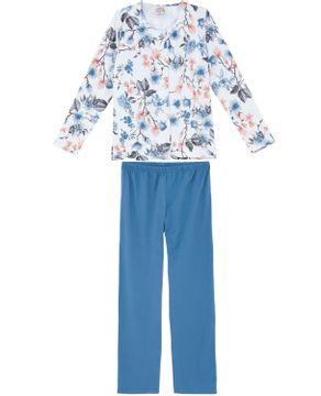 Pijama-Feminino-Toque-Intimo-Aberto-Moletinho-Floral