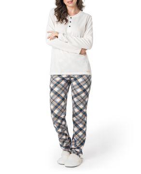 Pijama-Feminino-Toque-Intimo-Moletinho-Calca-Xadrez