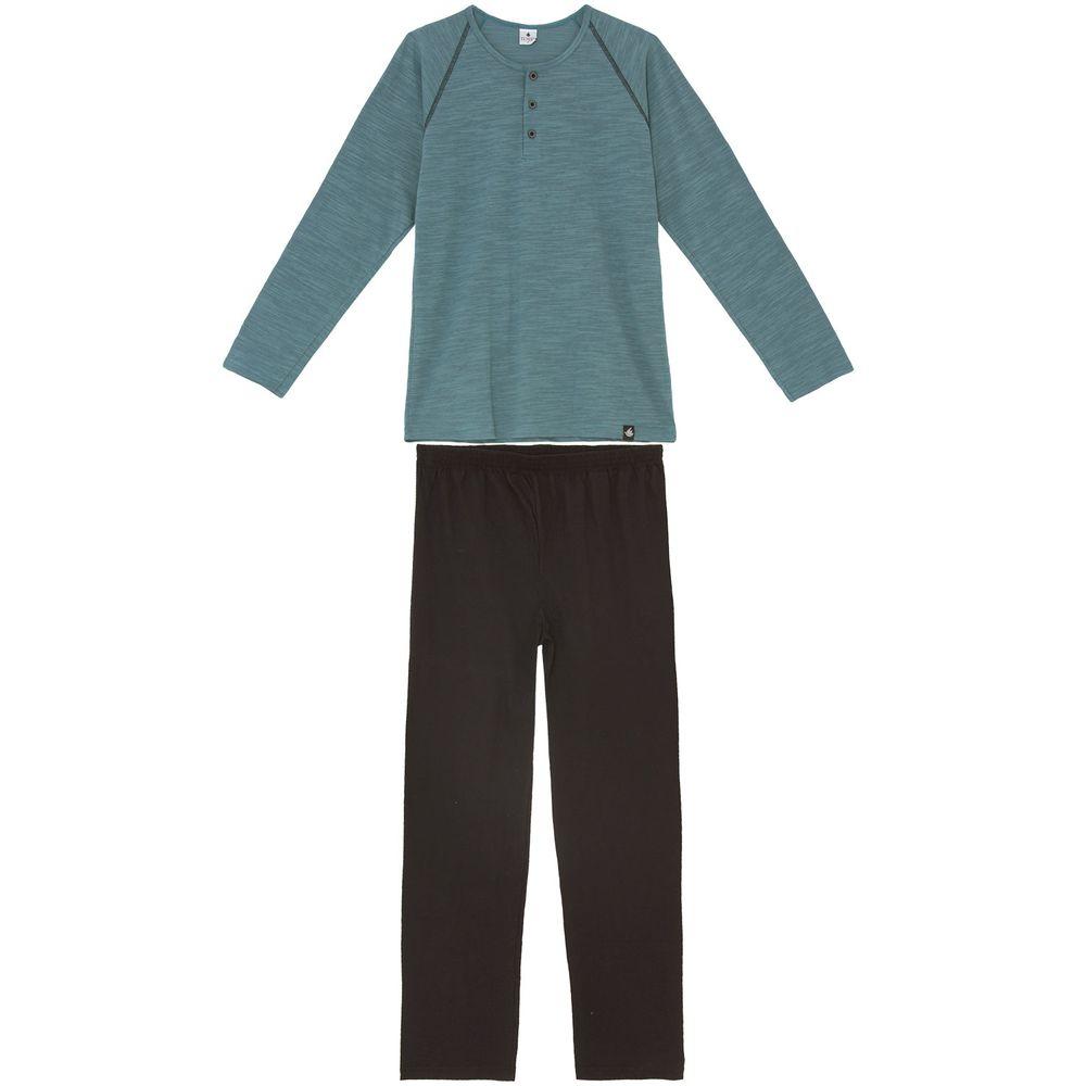 Pijama-Masculino-Toque-Intimo-Longo-Flame-Botoes