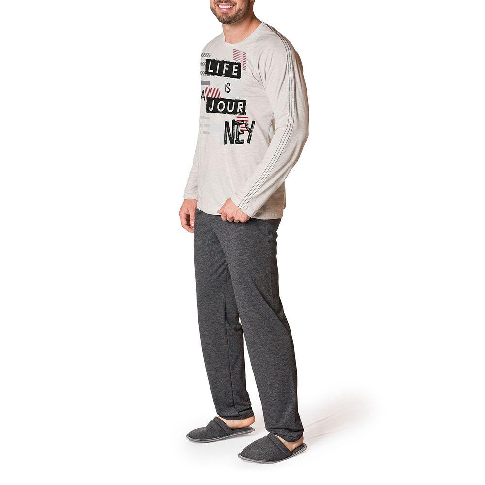 Pijama-Masculino-Toque-Intimo-Longo-Algodao-Frase