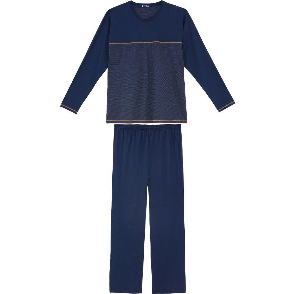 Pijama-Plus-Size-Masculino-Toque-Intimo-Algodao-Listras