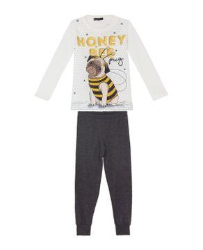 Pijama-Infantil-Feminino-Toque-Intimo-Pug-Abelha