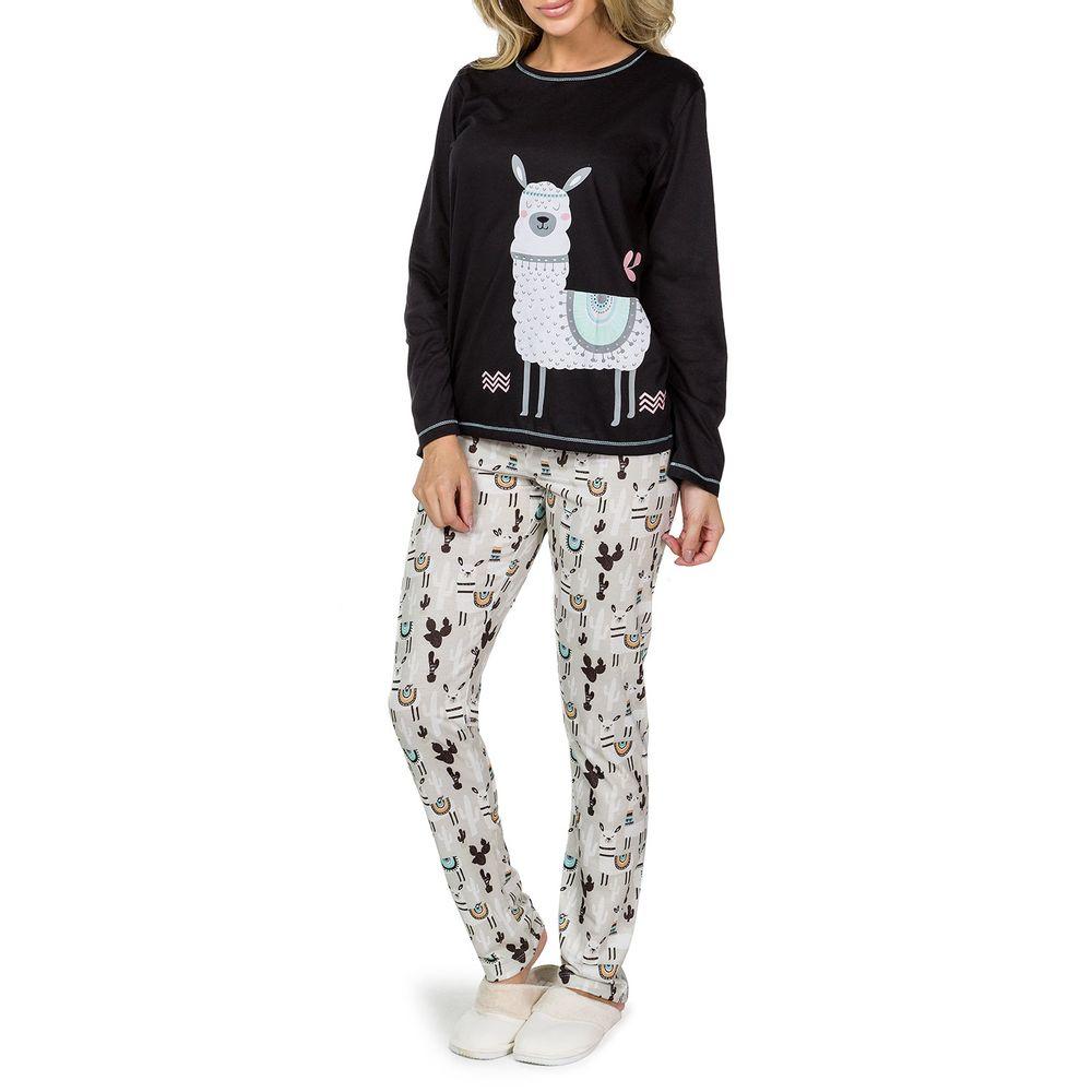Pijama-Feminino-Lua-Cheia-Malha-Calca-Lhama