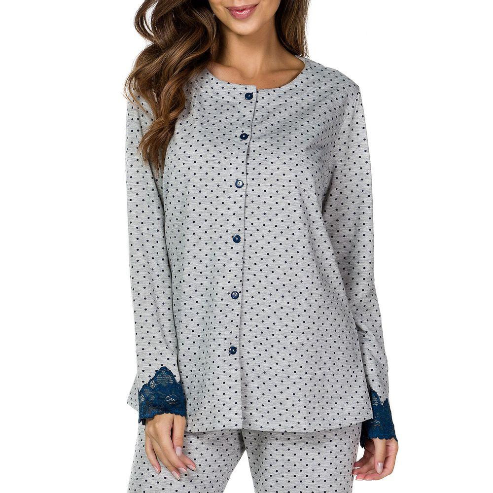 Pijama-Feminino-Lua-Cheia-Aberto-Flanelado-Renda-Poa