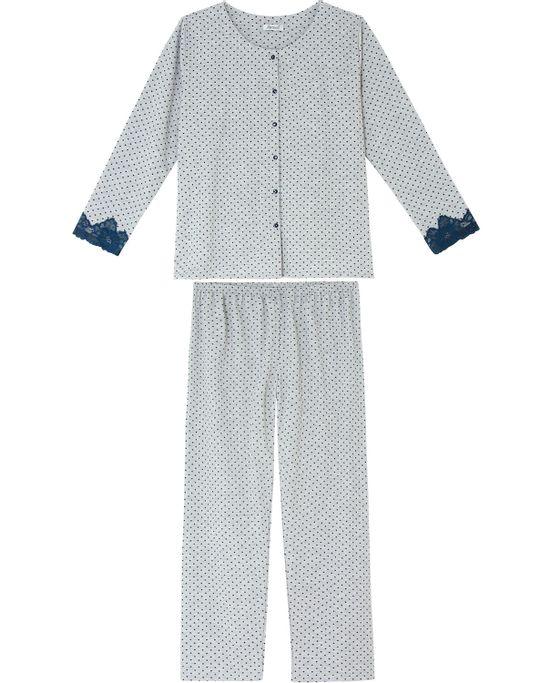 Pijama-Plus-Size-Feminino-Lua-Cheia-Aberto-Flanelado-Poa