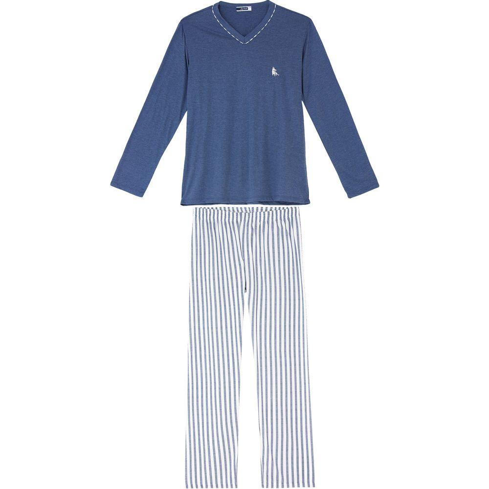 Pijama-Masculino-Lua-Cheia-Malha-Calca-Listras