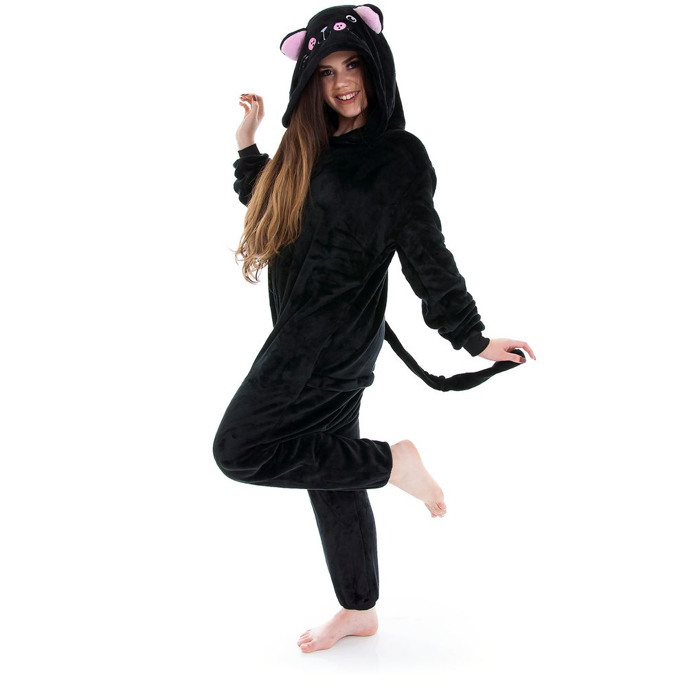 Pijama-Fantasia-Gato-Preto-Kigurumi-Zona-Criativa