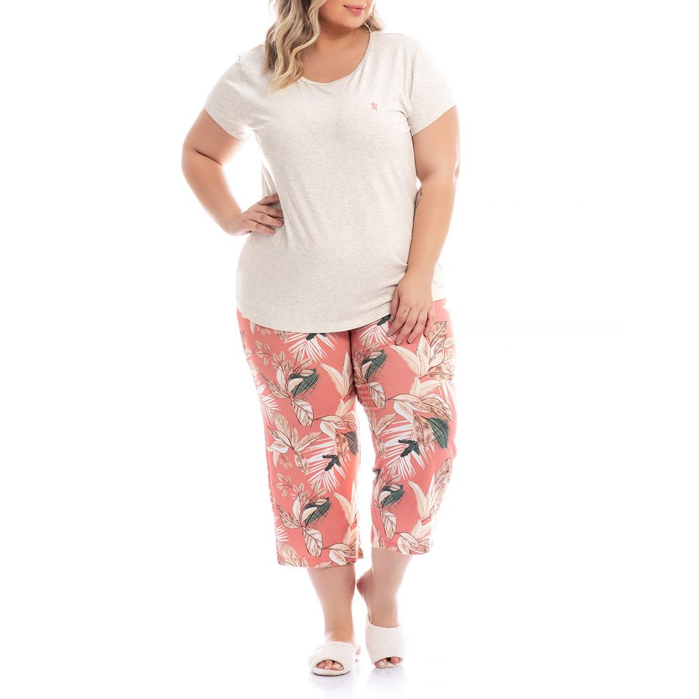 Pijama-Plus-Size-Pescador-Daniela-Tombini-Floral