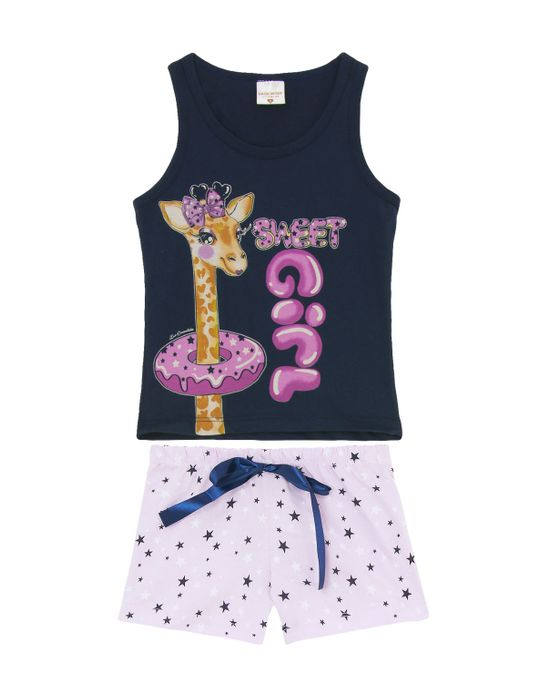 Shortdoll-Infantil-Lua-Encantanda-Regata-Girafa
