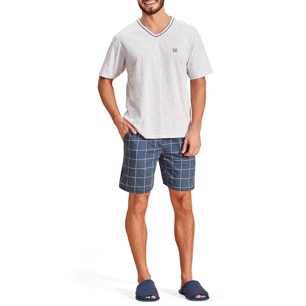 Pijama-Masculino-Lua-Encantada-Bermuda-Xadrez
