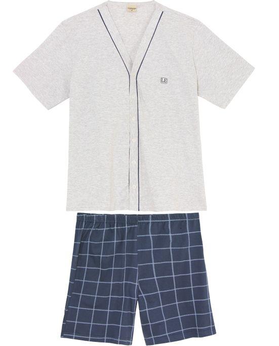 Pijama-Masculino-Lua-Encantada-Aberto-Bermuda-Xadrez