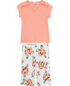Pijama-Capri-Lua-Encantada-Ombro-Renda-Floral