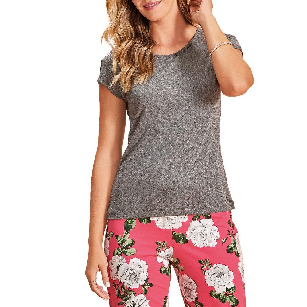Pijama-Pantacourt-Lua-Encantada-Viscose-Floral